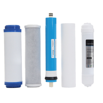 Топ Sale 5Pcs 5 Stage Ро Reverse Osmosis Filter Replacement Water Purifier Cartridge Equipment With 50 Gpd Membrane Water Filter
