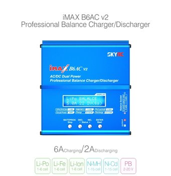 SKYRC iMAX B6AC V2 6A Lipo Батерия Balance Charger LCD Display Раз Charger For RC Модел Battery Charging Re-peak Mode
