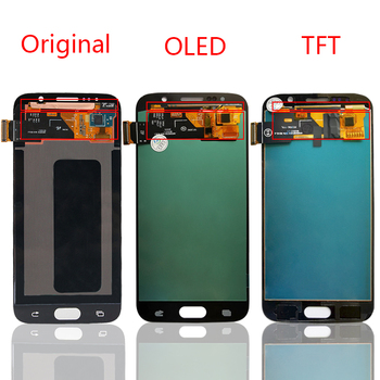 тестван за Samsung Galaxy S6 LCD G920 SM-G920F G920F Display Touch Screen Digitizer Assembly For S6 Display Replecement