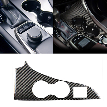 Carbon Fiber Car Gearshift Water Cup Cover Panel Trim Decor стикер за Lexus RX300 270 200T RX450h 2016-2019 детайли на интериора
