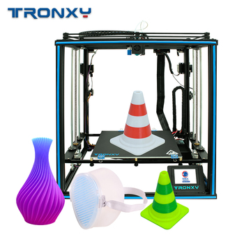 Tronxy X5SA-2Д High Precision Large Print Size with 3.5 Inch Color Print screen size Filament Detection Auto изравняване 3D Printe