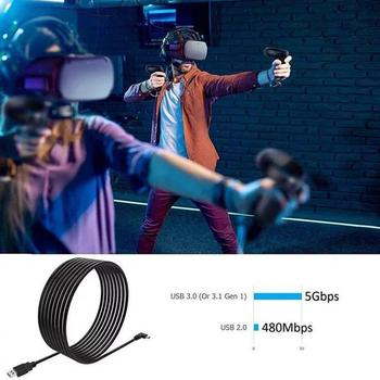 5M High Speed USB 3.0 Type C Data Кабел За Oculus Quest 2 Линк VR Headset Fast Charging USB-A To Type-C Кабел VR Accessories