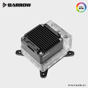 Barrow Water Pump+CPU Block Combo use for Intel X99 X299 Socket LGA2011 2066 A-RGB Light to 5V 3PIN AURA Water cooling Cooler