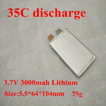 3.7 v 3000mah Li-polymer Батерия 3.7 v 3ah 35C Lithium for RC Model Car Model Car Start Lithium Battery LED Light Electris Toys